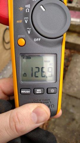 Total Inrush Current of 126.9A