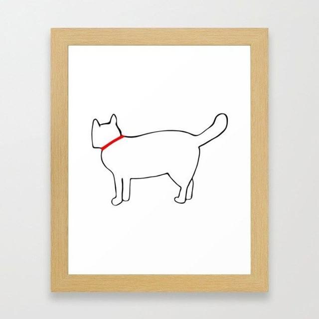 New Fluff the Cat art print on #society6 #cats
