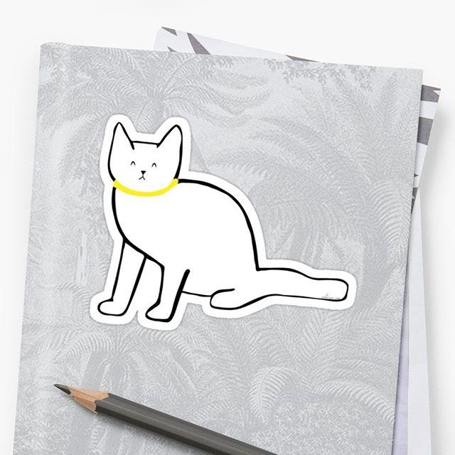 Dolly sticker on #redbubble  #illustration #cat #drawing #catstagram #sticker #catlovers