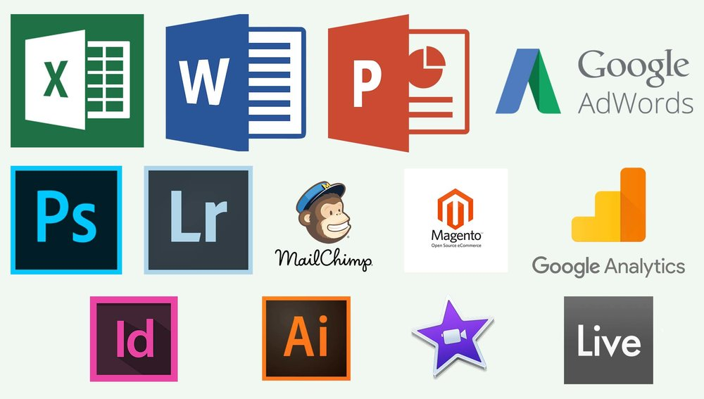 The icons shown above stand for the most relevant Softwares, Tools & Programs I am able to successfully use.