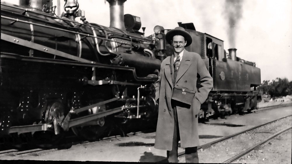 Trains, Chile and Stanford - Following graduation from NMSU, Paul W. Klipsch went to work for General Electric designing radios that were then sold to RCA. In 1928, he responded to a notice on the GE bulletin board. This resulted in a new job maintaining electric locomotives in Chile for three years before entering graduate school at Stanford. After receiving his engineering degree, PWK worked as a geophysicist for two Texas oil companies.
