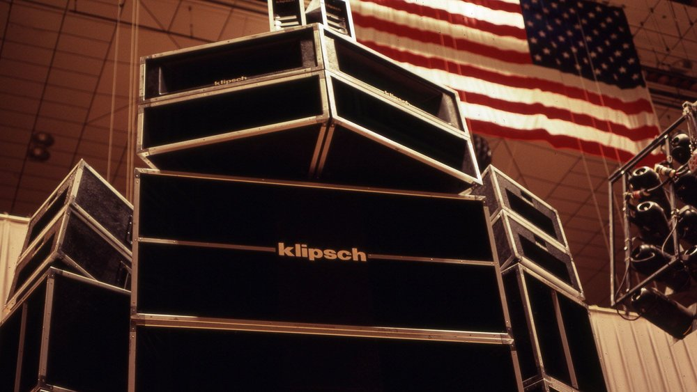 1977 - Klipsch & Associates beefs up its professional speaker line with the 500-pound MCM speaker. Designed for touring sound and cinema applications, the MCM delivers enough power to rock the house down.