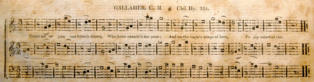 Fig. 5.  GALLAHER.  Columbian Harmony  (1829). Melody is in the middle part.