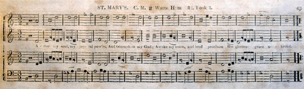 Fig. 6.  ST. MARY'S.  Columbian Harmony  (1829). Melody is in the third part.