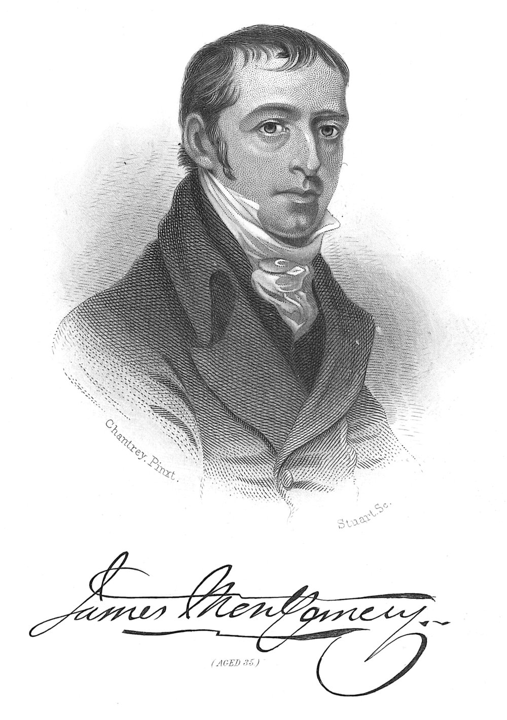James Montgomery, from Edwin Long,  Illustrated History of Hymns and Their Authors  (c. 1882).