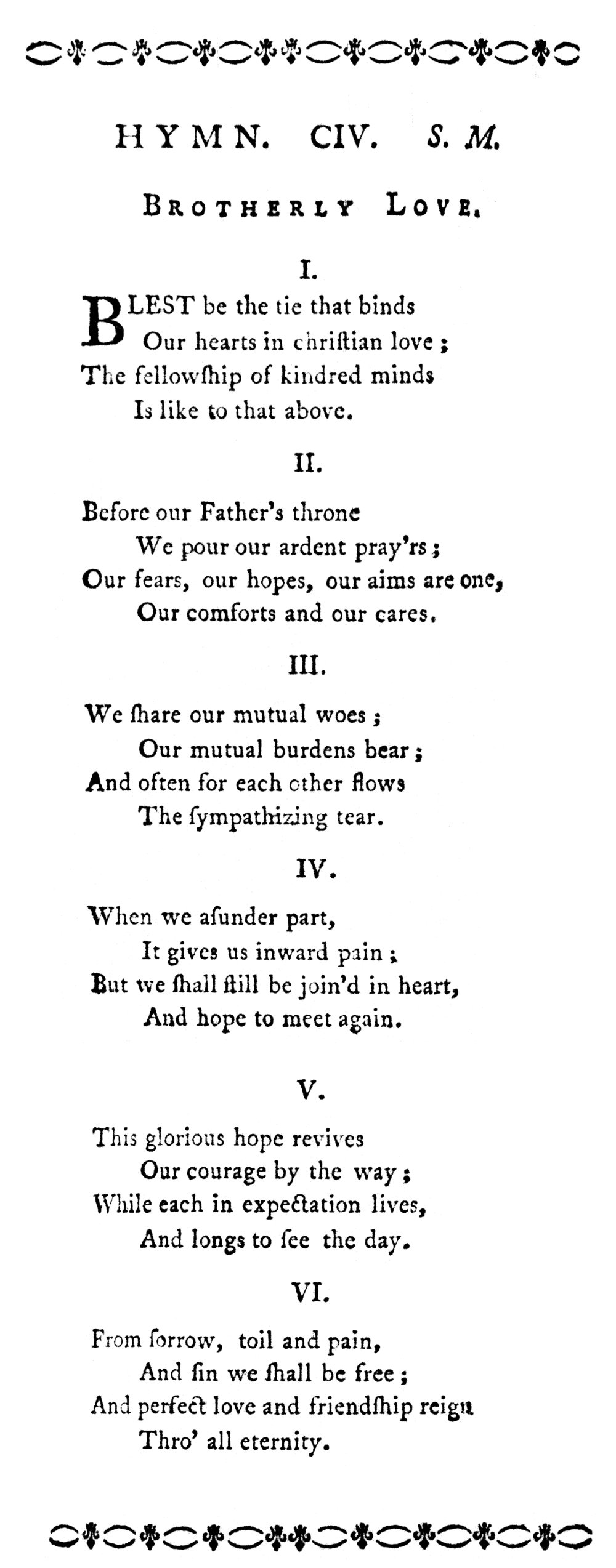 Fig. 1.  John Fawcett,  Hymns Adapted to the Circumstances of Public Worship and Private Devotion  (1782).