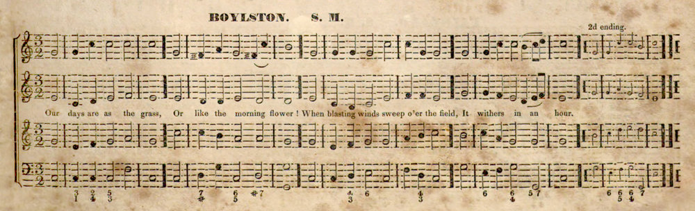 Fig. 4.  BOYLSTON in Lowell Mason's  The Choir: or Union Collection of Church Music  (1832), p. 165.