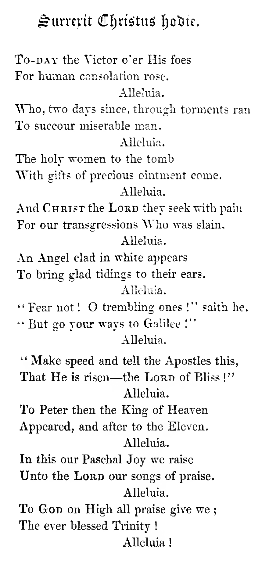 Fig. 3.  J.M. Neale,  Mediaeval Hymns & Sequences  (1851),   pp. 114-115.