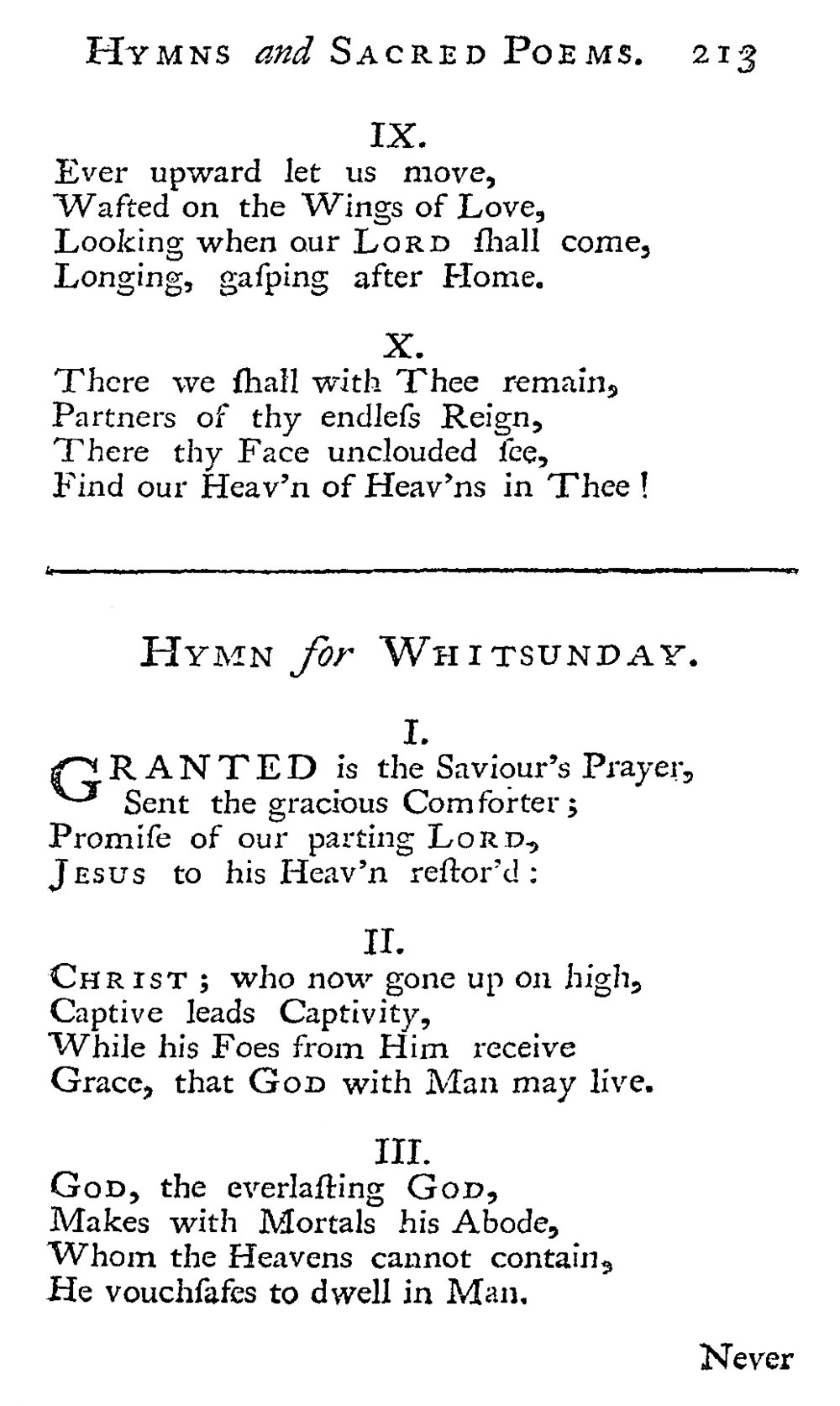 Fig. 1.   Hymns and Sacred Poems  (1739)
