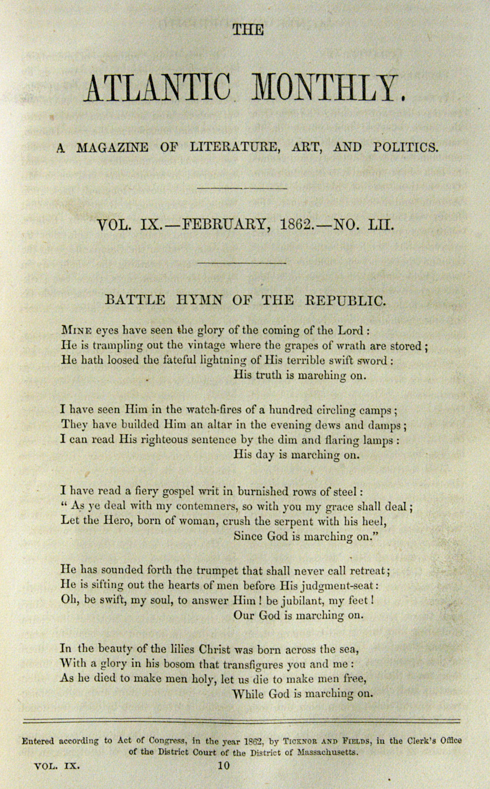 Fig. 1.   The Atlantic Monthly,  Feb. 1862.