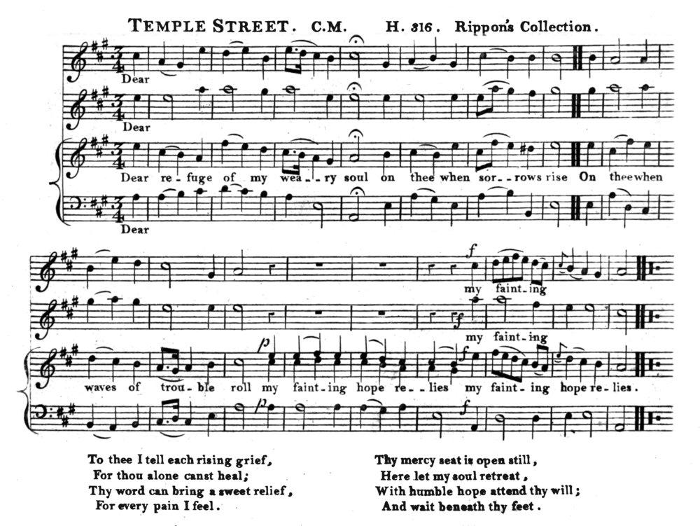 Fig. 2.  John Moreton,  Sacred Melody  (1804).