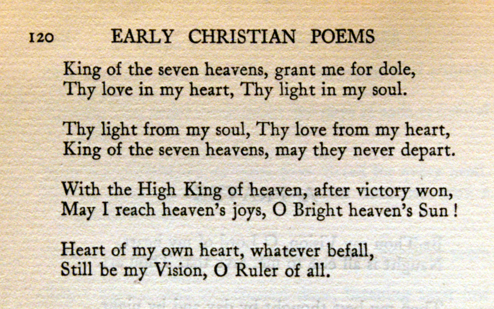Fig. 4.   The Poem-Book of the Gael , ed. Eleanor Hull, pp. 119-120.