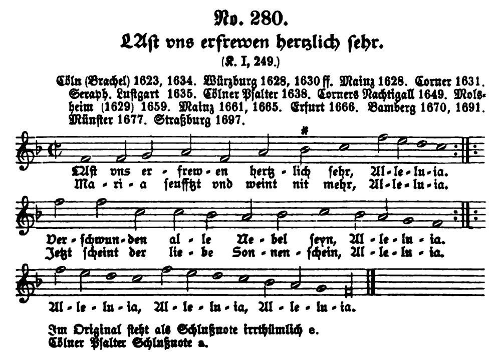 Fig. 5.  Wilhelm Bäumker,  Das Katholische Deutsche Kirchenlied , vol . 1 (1886), pp. 561-62.