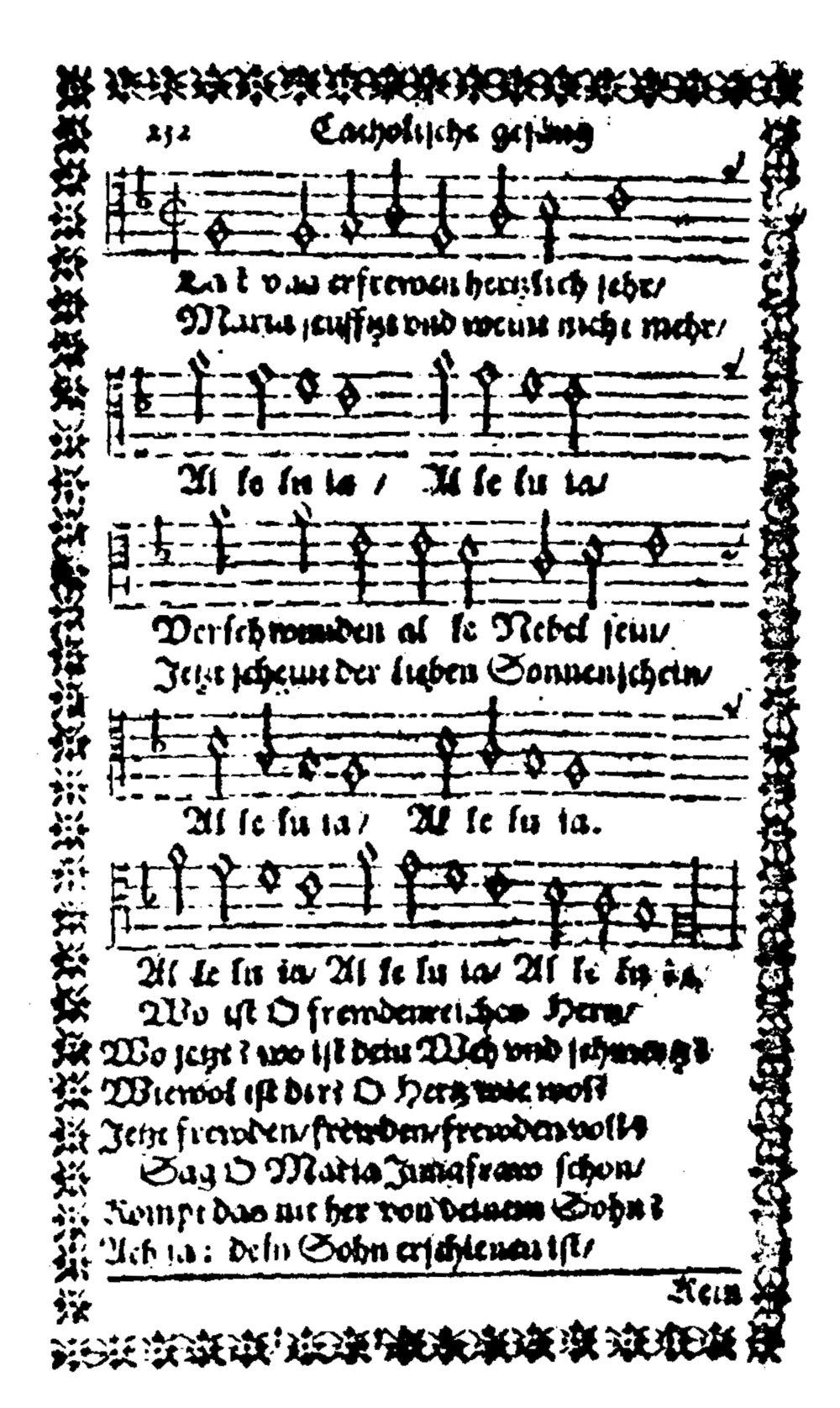 Fig. 6.   Catholische Kirchen Gesäng  (Cöln: Peter von Brachel, 1625).