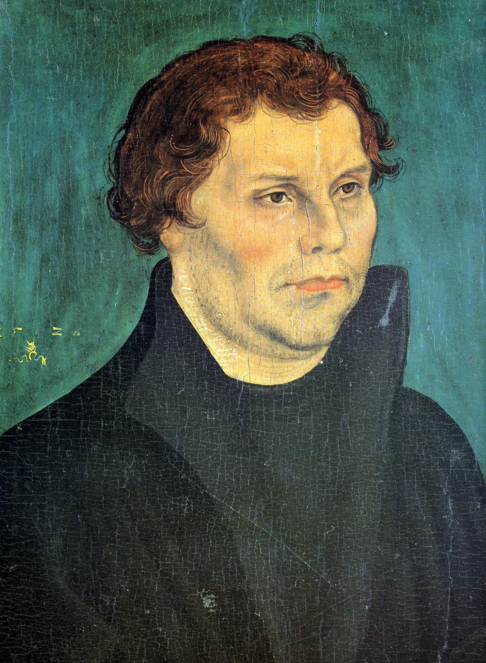 Martin Luther , painting by Lucas Cranach the Elder, Wartburg (1526)
