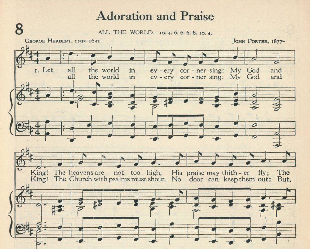 Fig. 4.   The Methodist Hymnal  (Nashville: Methodist Episcopal Church South, 1935), excerpt. ©1962 Abingdon Press.