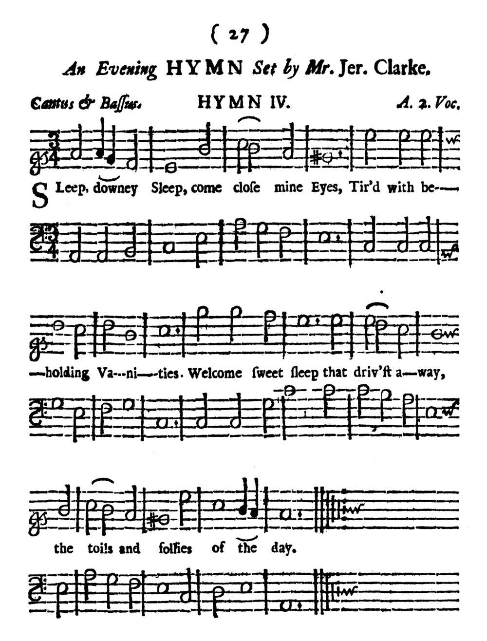 Fig. 4.  Henry Playford,  The Divine Companion  (London, 1701).