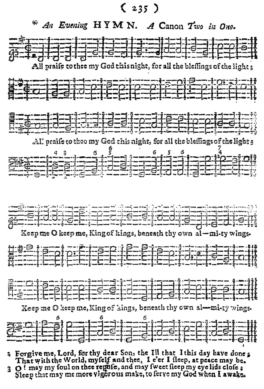 Fig. 8.   The Harmonious Companion  (London: W. Pearson, 1732). Melody in the tenor.