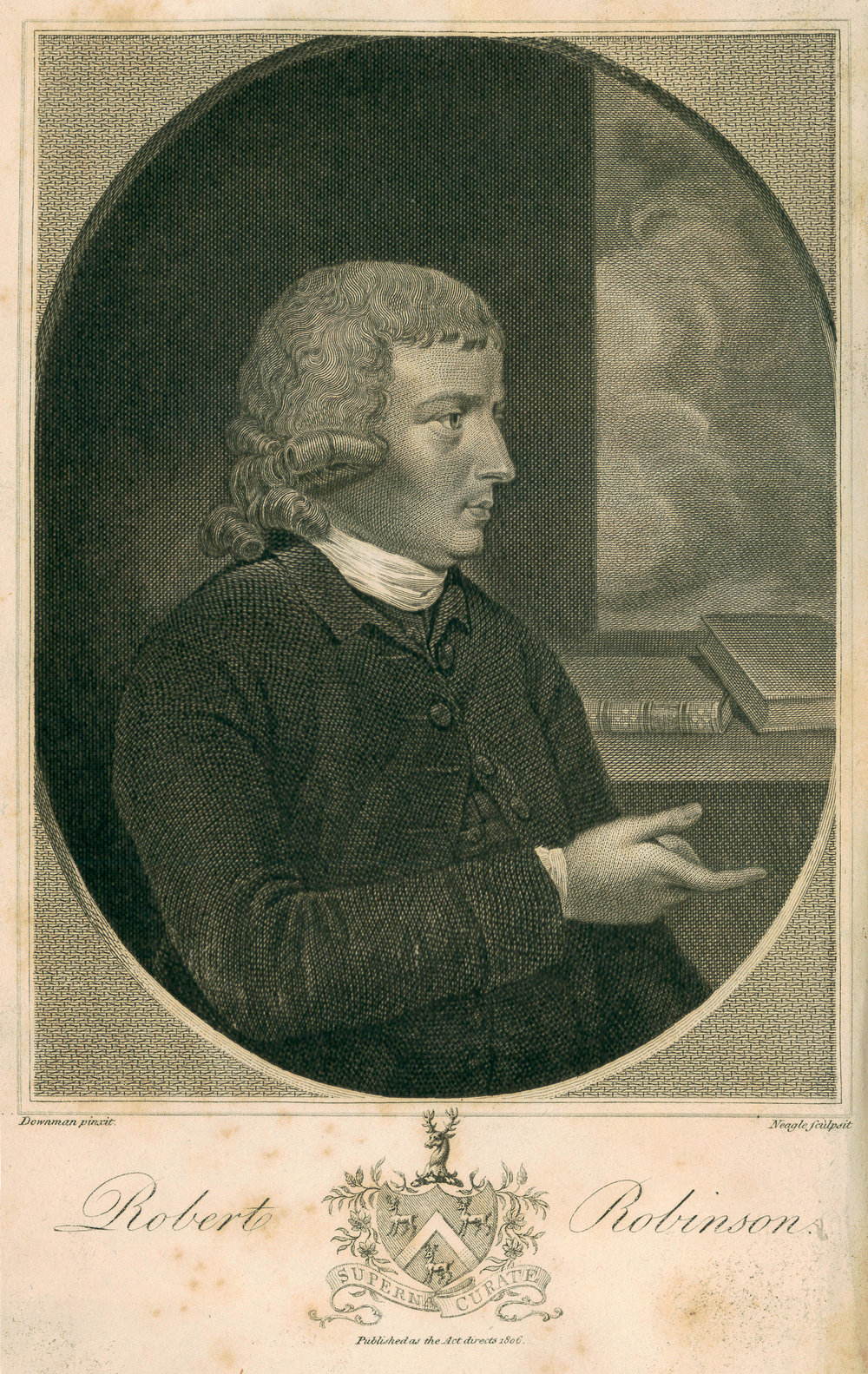 Robert Robinson,  from  Miscellaneous Works of Robert Robinson  (1807).