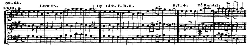 Fig. 2.  John Rippon,  A Selection of Psalm and Hymn Tunes  (1792). Melody in the middle voice.