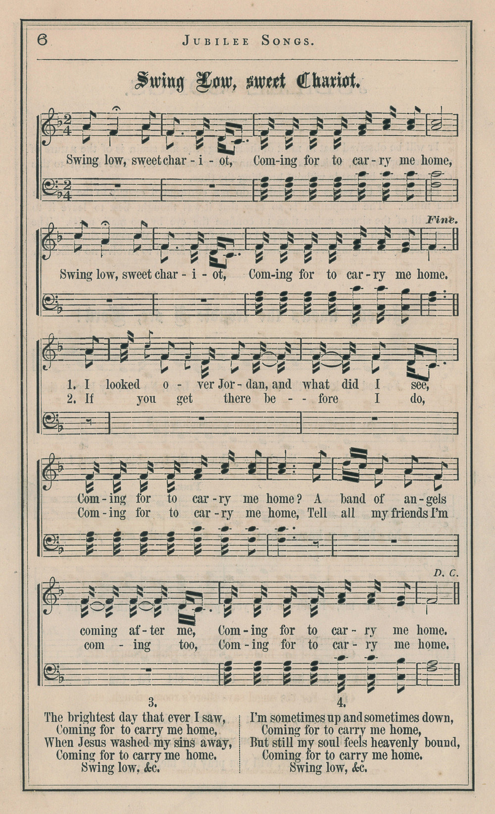 Fig. 1.   Jubilee Songs as Sung by the Jubilee Singers of Fisk University  (NY: Biglow & Main, 1872).