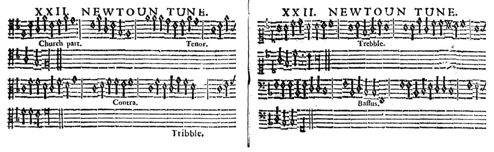 Fig. 4.  Edward Millar,  The Psalmes of David in Prose and Meeter  (1635). Melody in the tenor part.