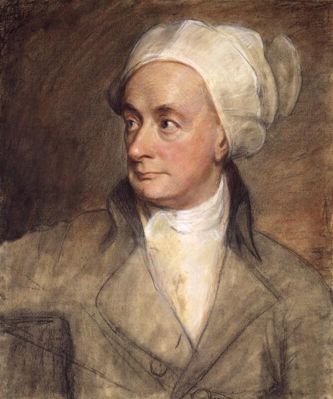 William Cowper , pastel protrait by George Romney,  National Portrait Gallery , 1792.
