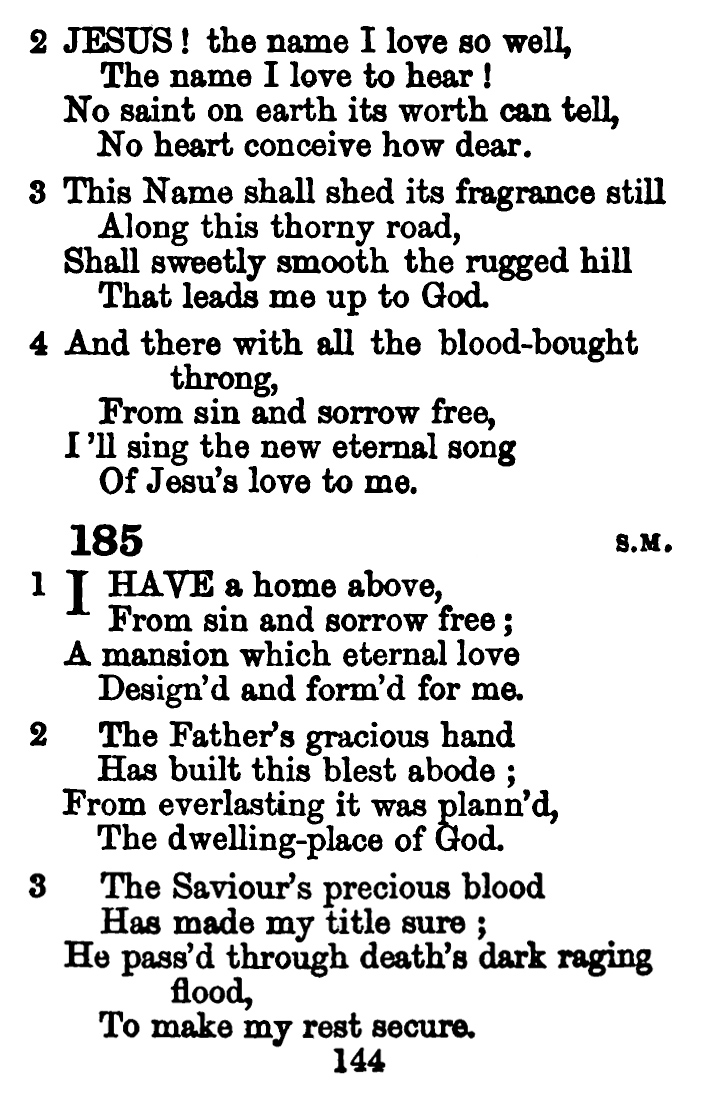 Fig. 1.   A Few Hymns and Some Spiritual Songs, Selected 1856, for the Little Flock  (1856).