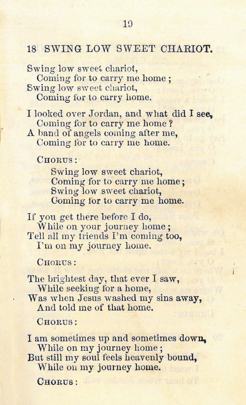 Fig. 2.   Spirituelles: (Unwritten songs of South Carolina) sung by the Carolina singers  (Philadelphia: Alfred Martien, 1873).