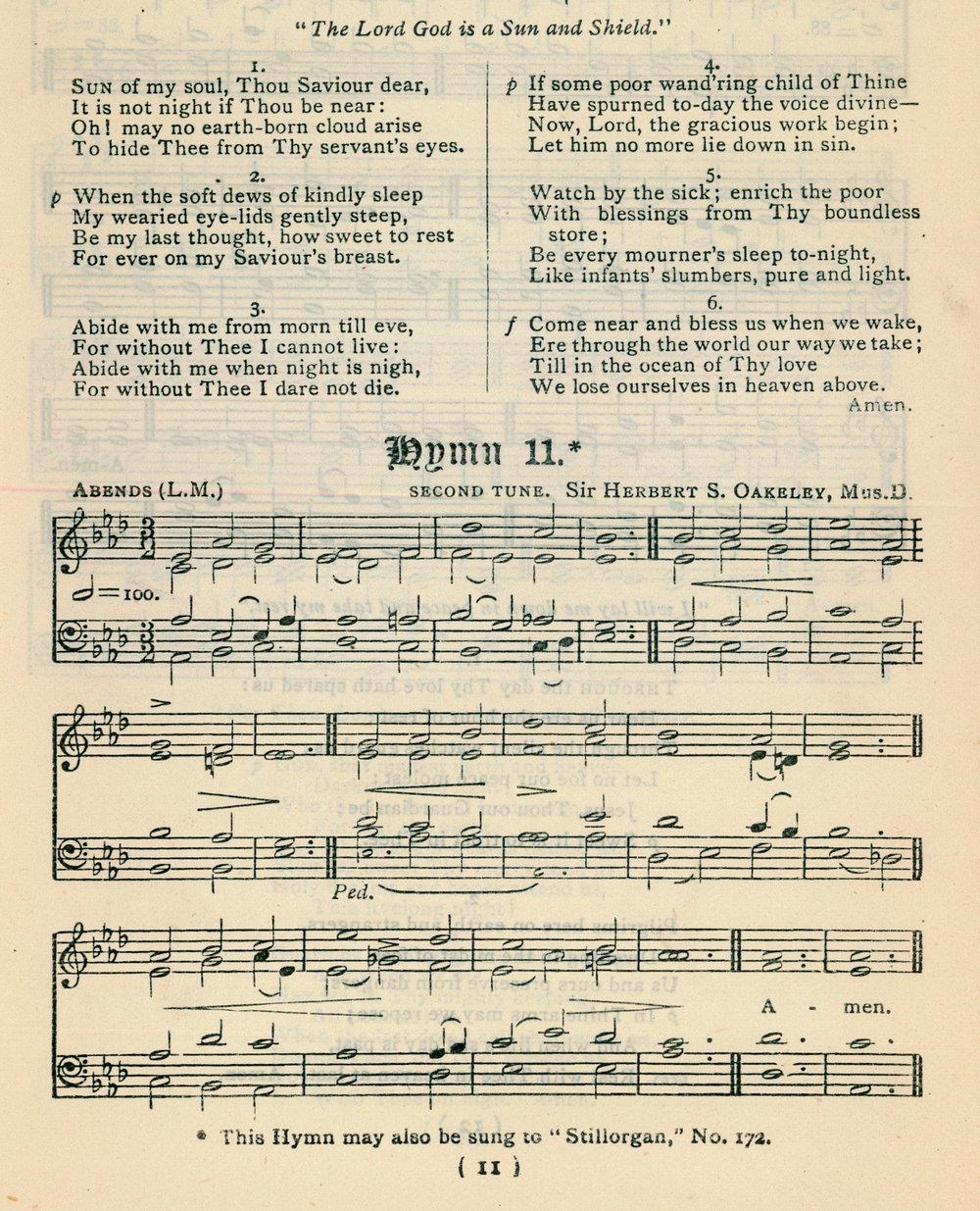 Fig. 3.  Church of Ireland,  Church Hymnal  (Dublin, 1873).