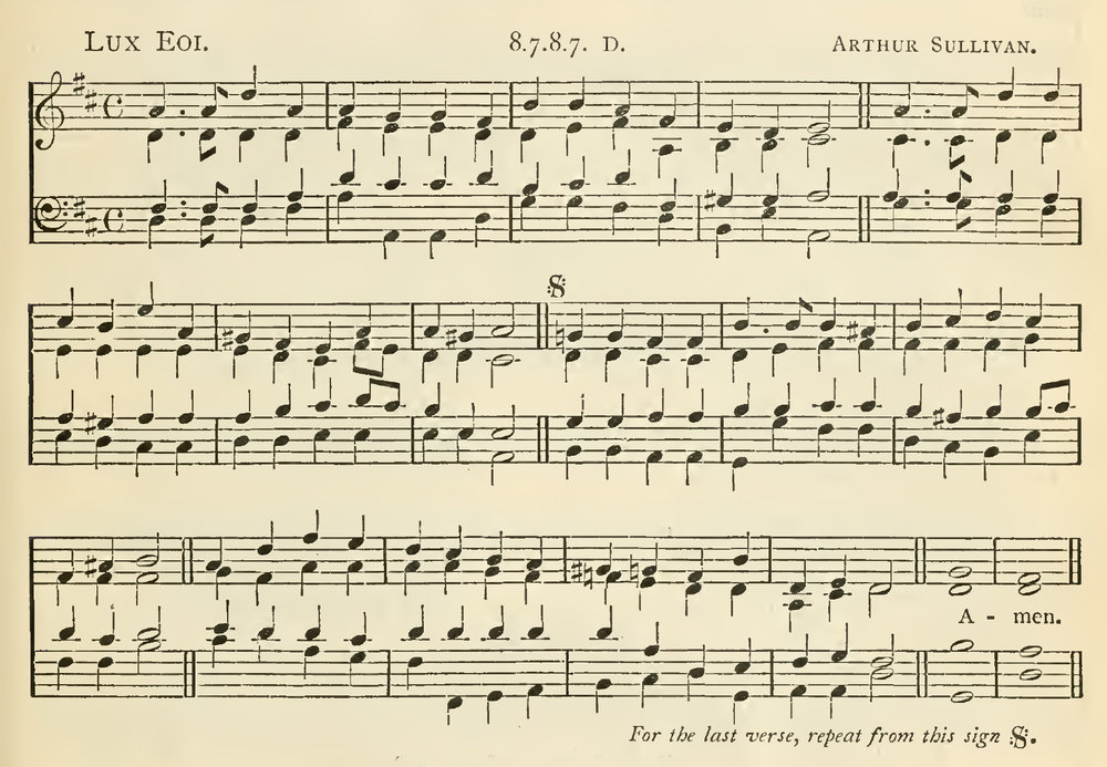 Fig. 10.  Arthur Sullivan,  Church Hymns and Tunes  (1874), no. 67.