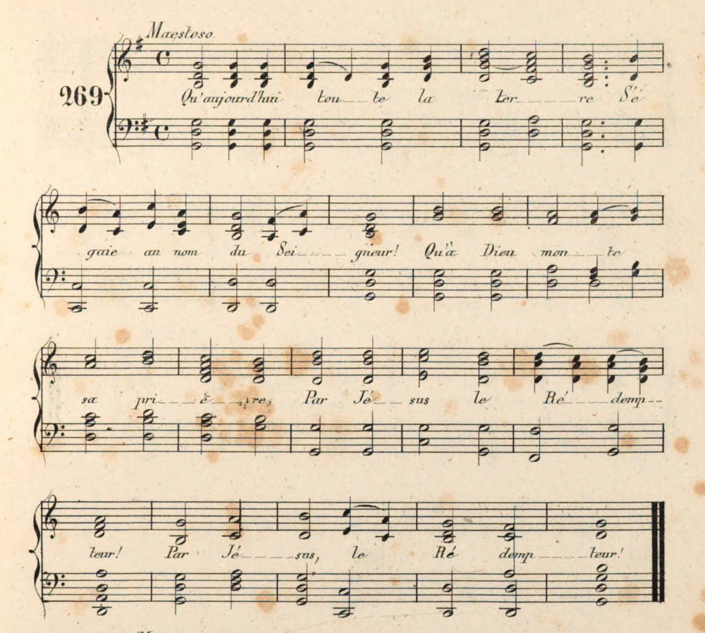 Fig. 5.   Musique des Chants de Sion  (Geneva, 1837; 1843 ed. shown here).