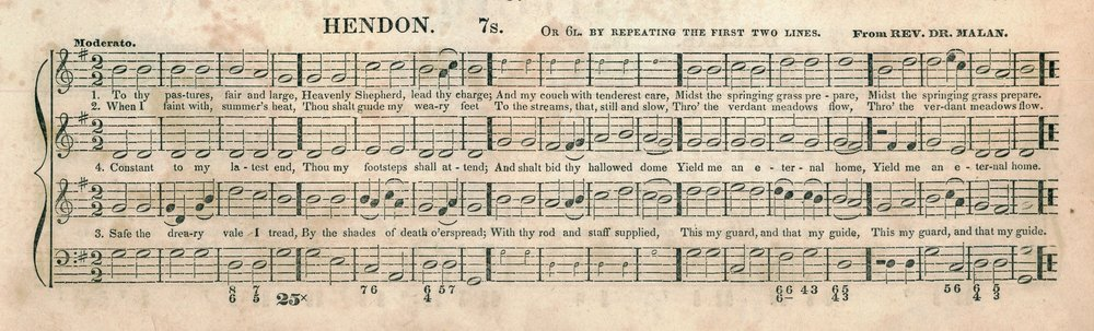 Fig. 6.  Lowell Mason,  Carmina Sacra  (Boston: J.H. Wilkens & R.B. Carter, 1842). Melody in the tenor part.