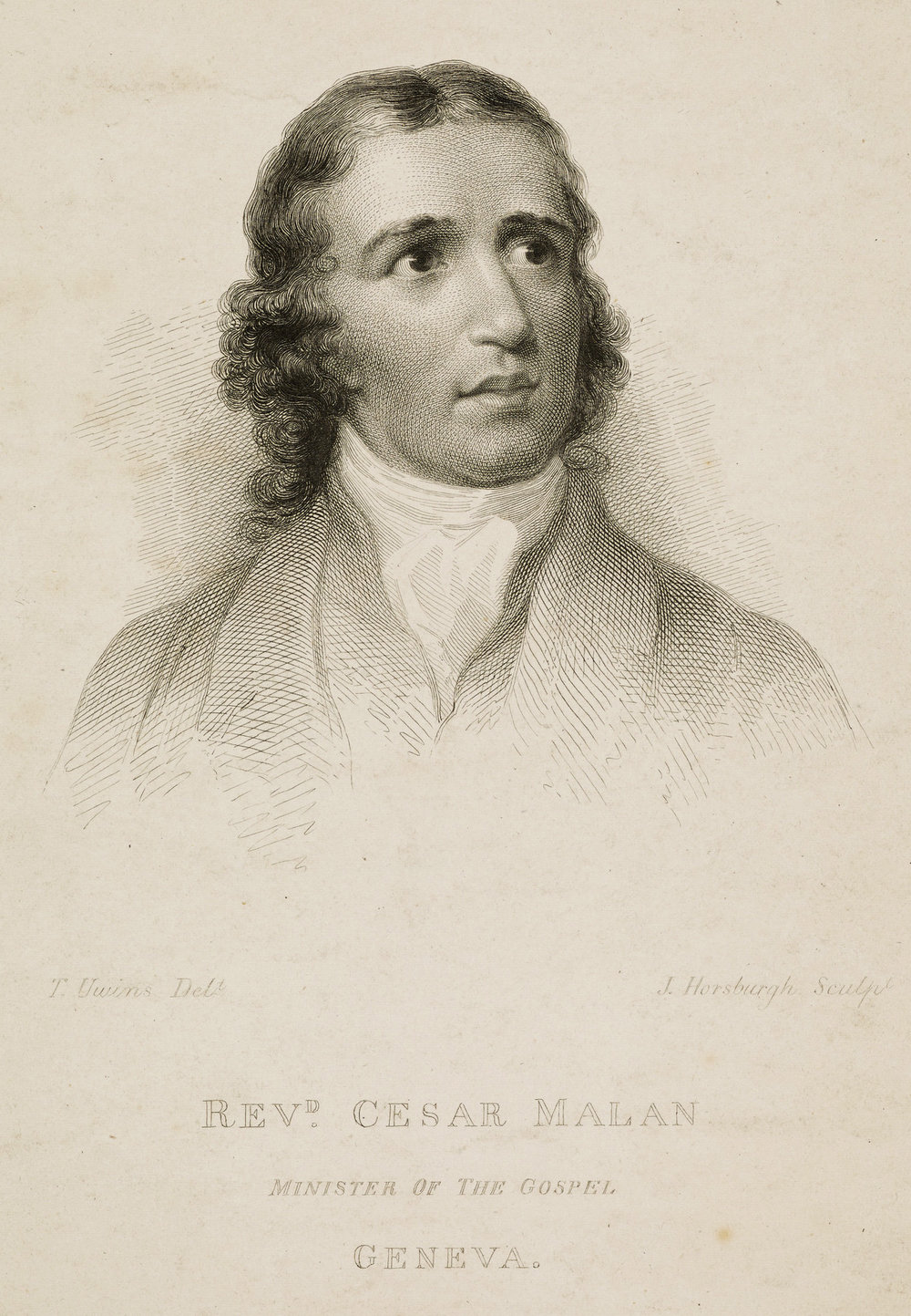 H.A. César Malan,  engraving by J. Horsburgh, after a portrait by Thomas Unwins,  National Galleries Scotland