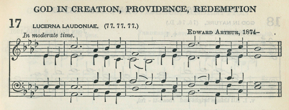 Fig. 2.    The Church Hymnary, Revised Edition  (Oxford: University Press, ©1927), excerpt.