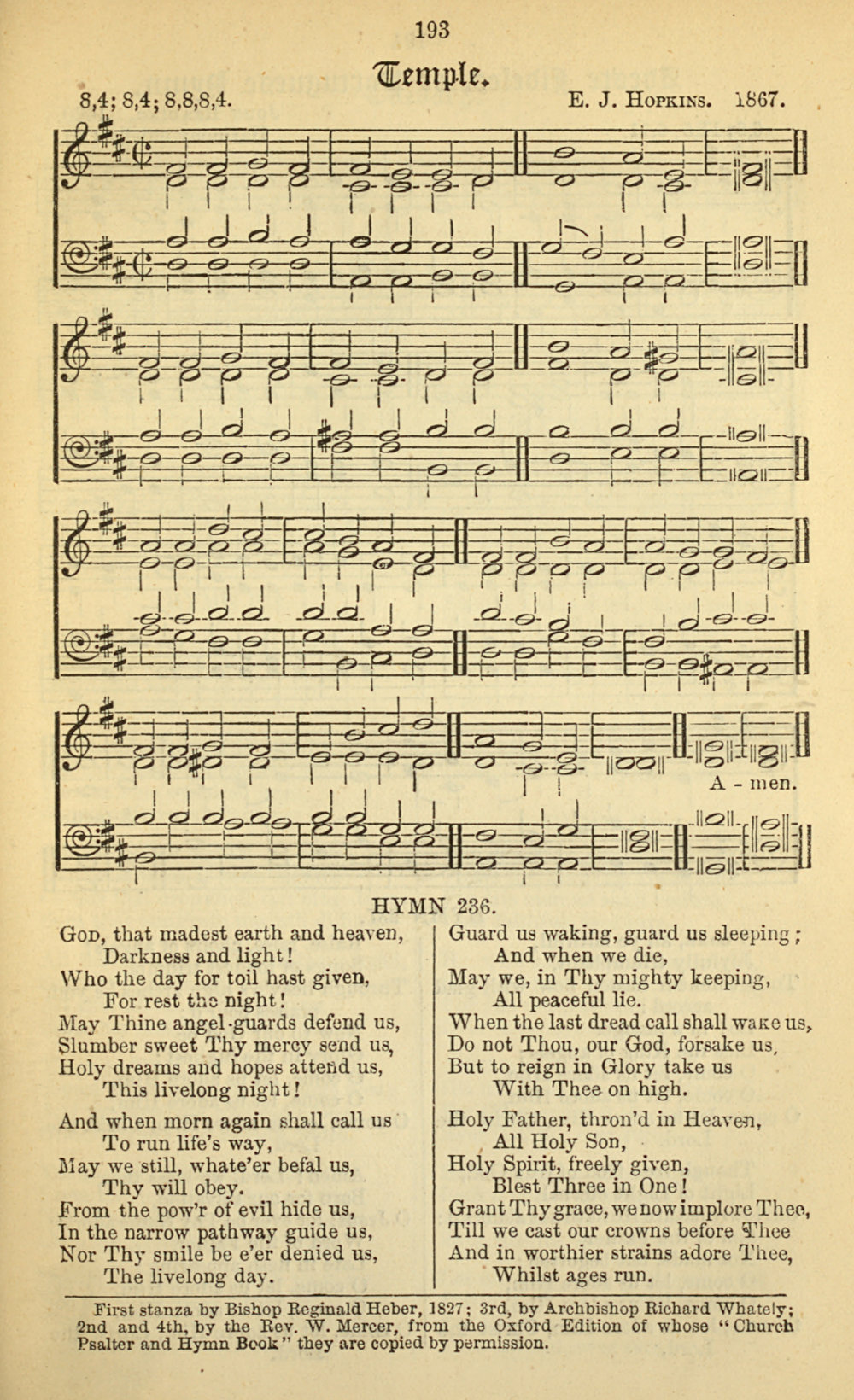 Fig. 7.  Edward J. Hopkins,  Temple Church Choral Service Book,  2nd ed. (London: Metzler & Co., 1869).