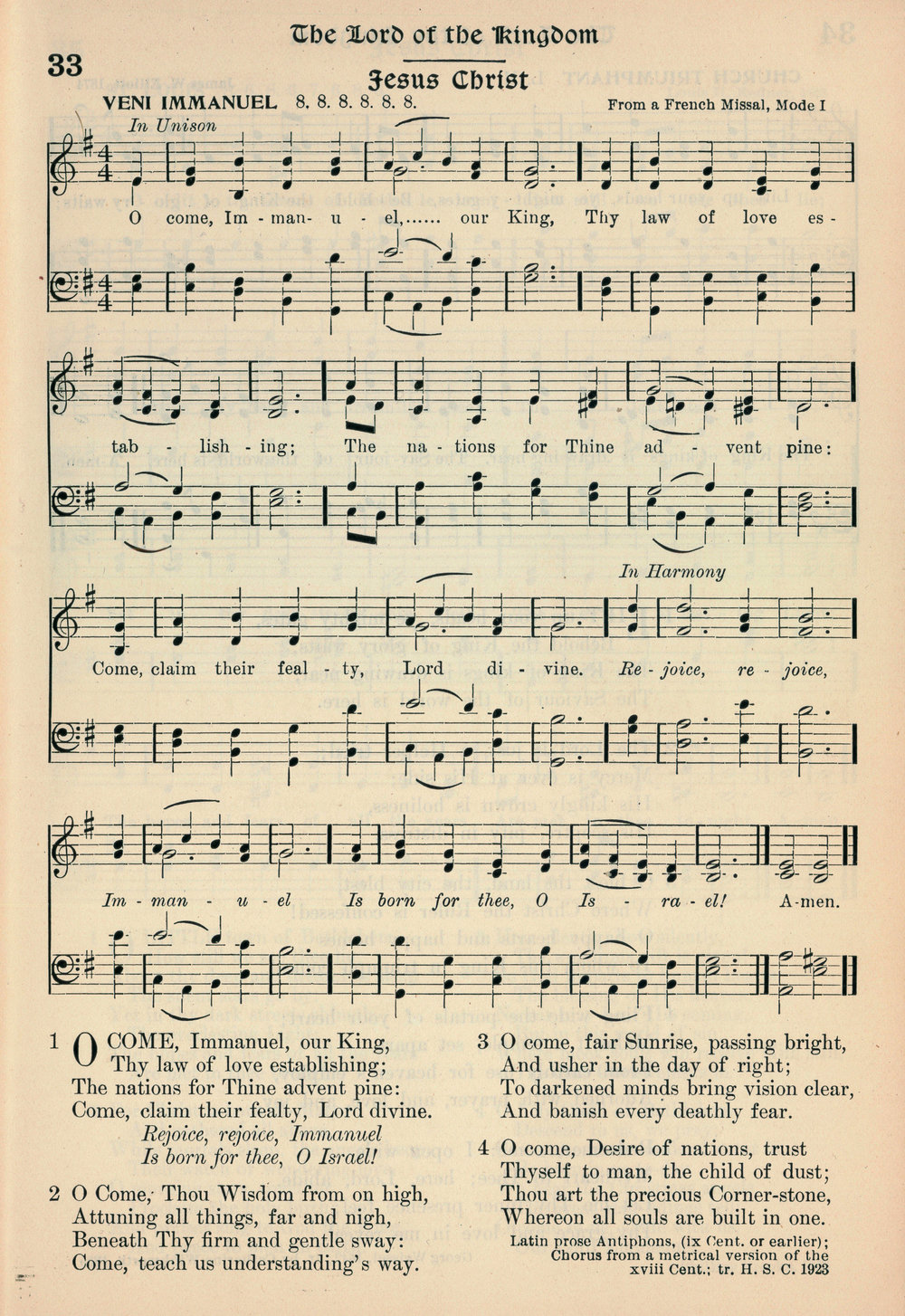 Fig. 13.   Hymns of the Kingdom of God  (New York: A.S. Barnes & Co., 1923).