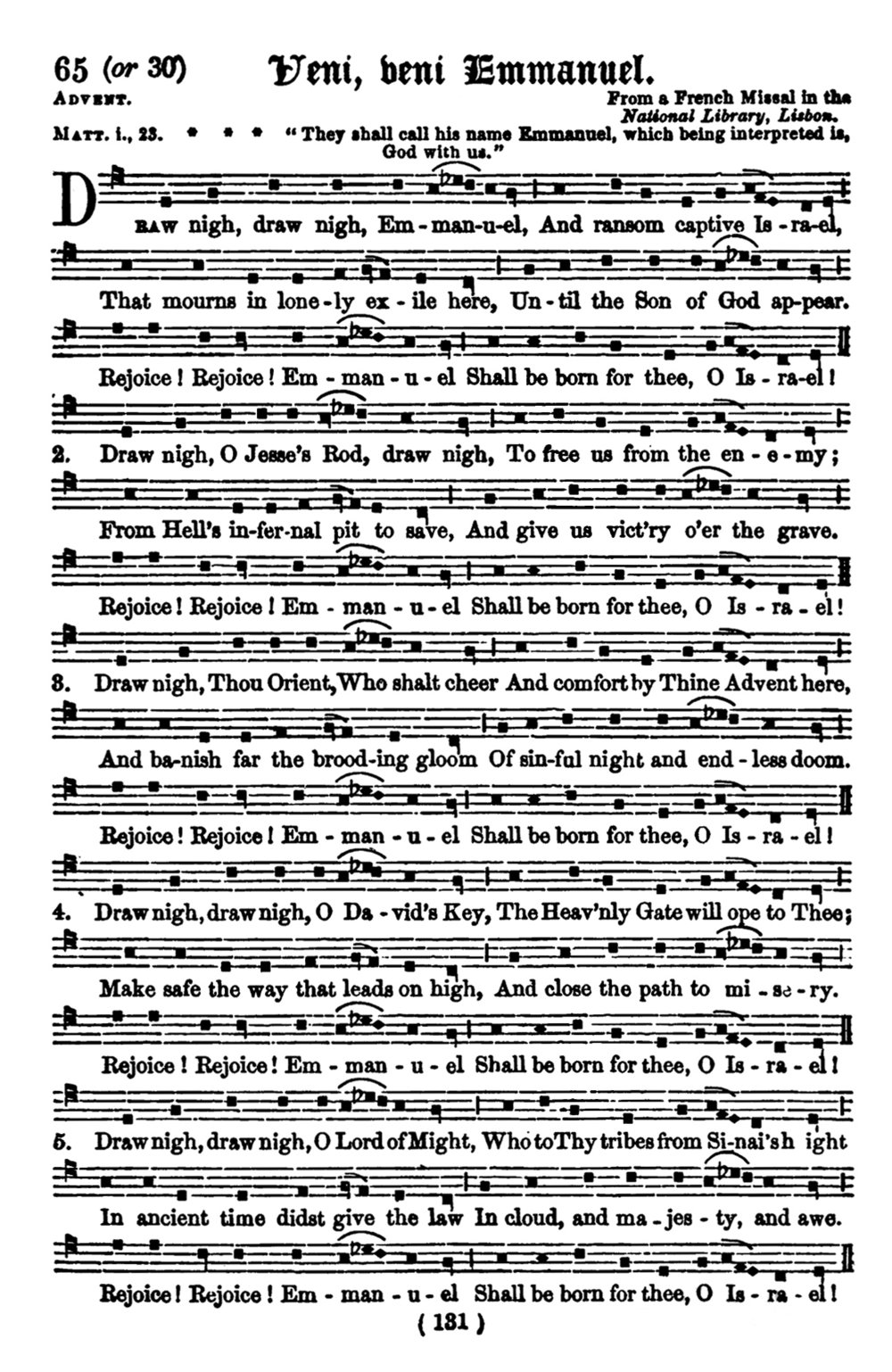 Fig. 1.   Hymnal Noted , Parts I & II (London: Novello, 1856).