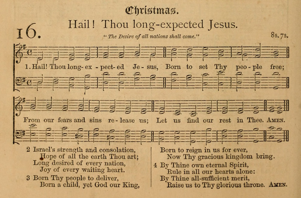 Fig. 5.  J. Ireland Tucker,  Hymnal with Tunes, Old and New  (NY: F. J. Huntington and Co., 1872).