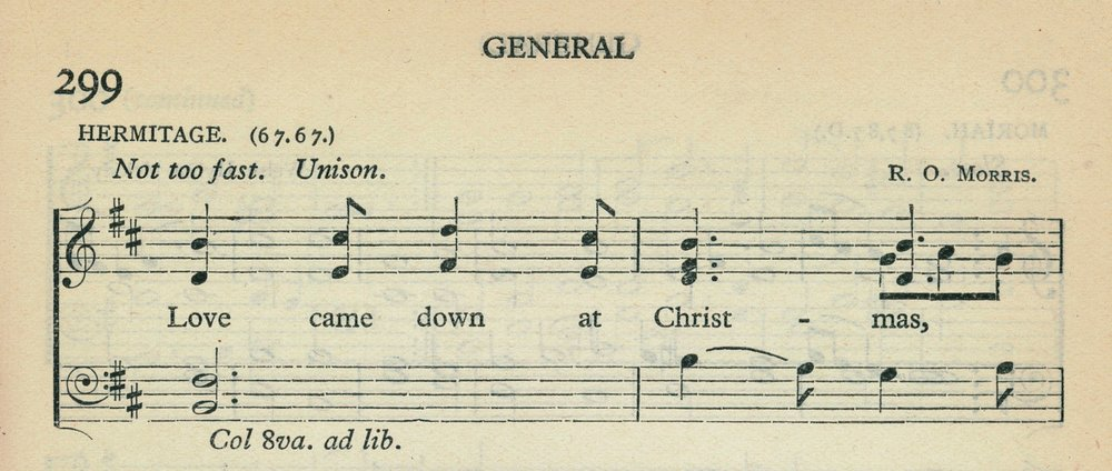 Fig. 7.   Songs of Praise  (Oxford: University Press, ©1925), excerpt.