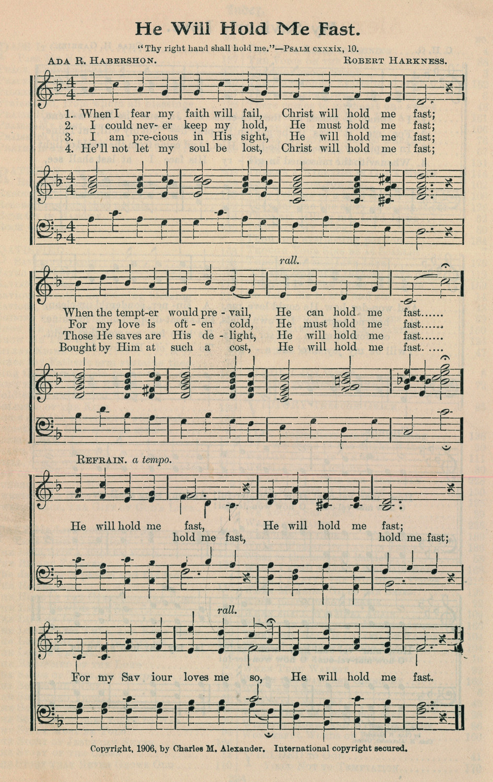 Fig. 1.   Northfield Hymnal with Alexander's Supplement  (Chicago: Biglow & Main, 1907).