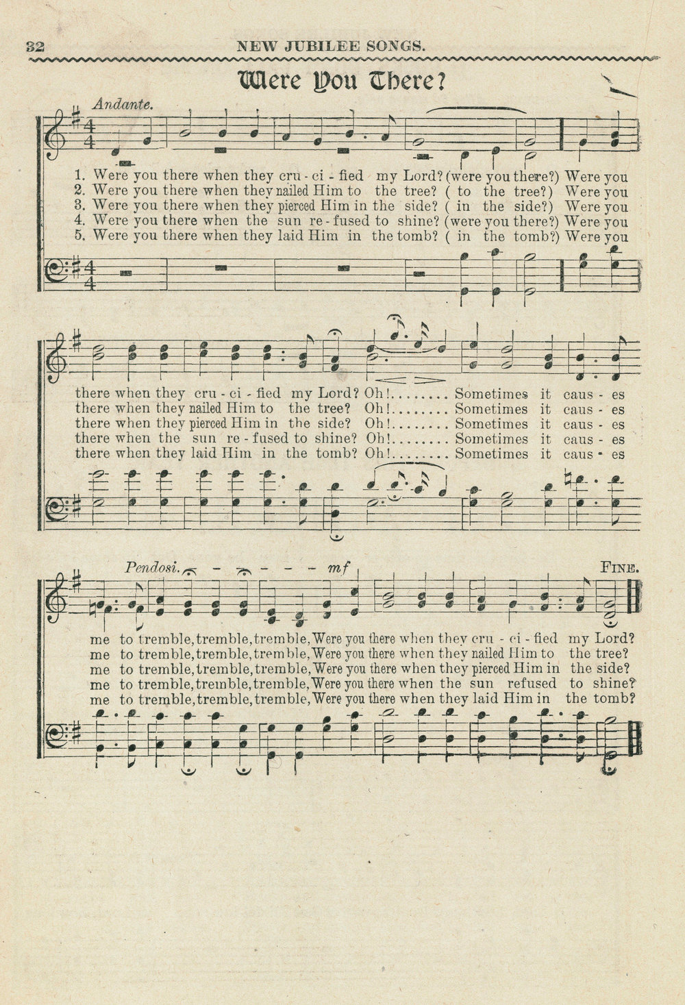Fig. 4.  Frederick J. Work,  Folk Songs of the American Negro  (Nashville: Fisk University, 1907).