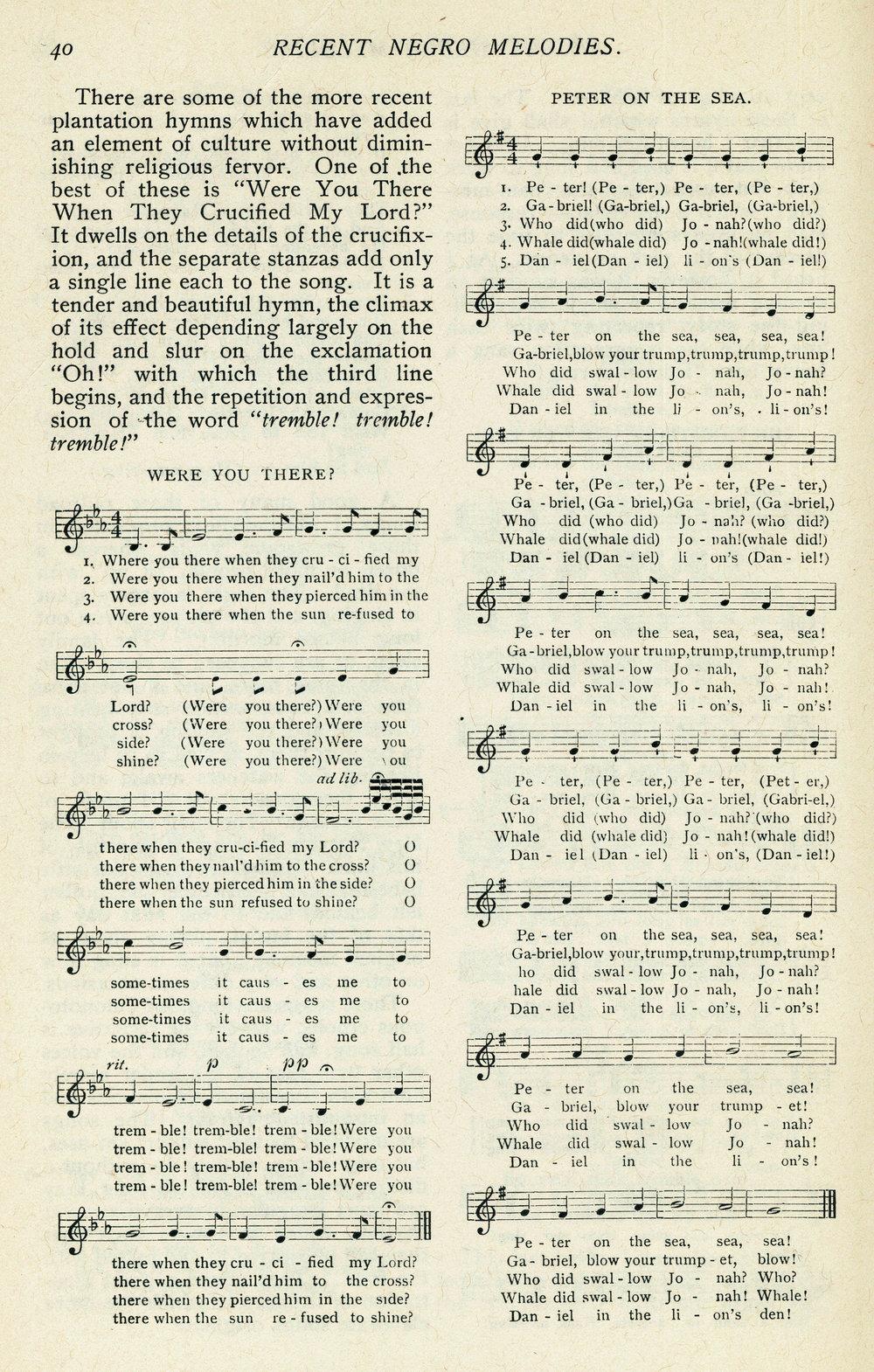 Fig. 6.  William E. Barton's  Old Plantation Hymns  (Boston: Lamson, Wolff and Co., 1899).