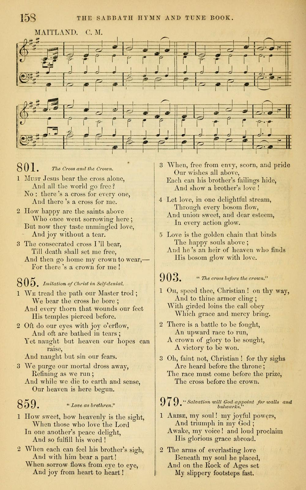 Fig. 4.   The Sabbath Hymn and Tune Book  (NY: Mason Brothers, 1859).