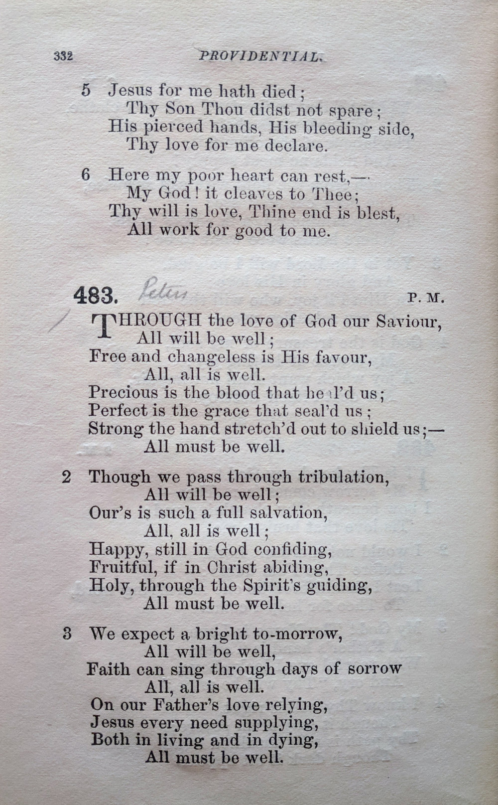 Fig. 1.  Edward Walker,  Psalms and Hymns for Public and Social Worship  (Cheltenham: Wight & Bailey, 1855).