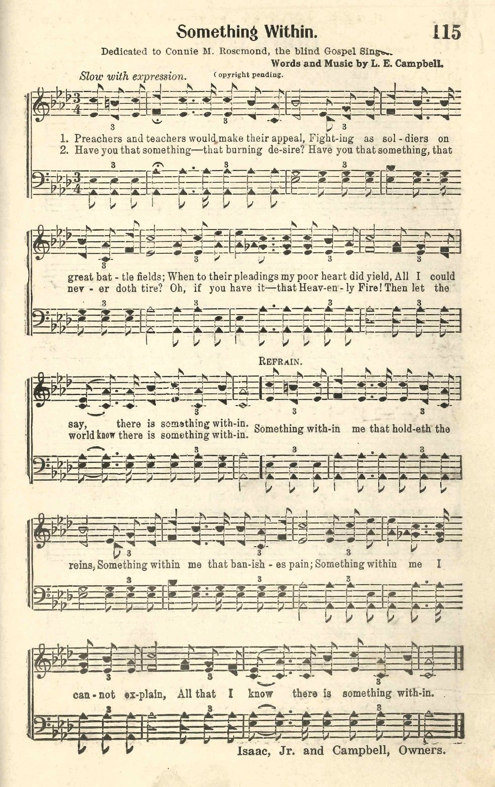 Fig. 3.   Inspirational Melodies No. 2  (Nashville: National Baptist Young People's Union Board, 1929).