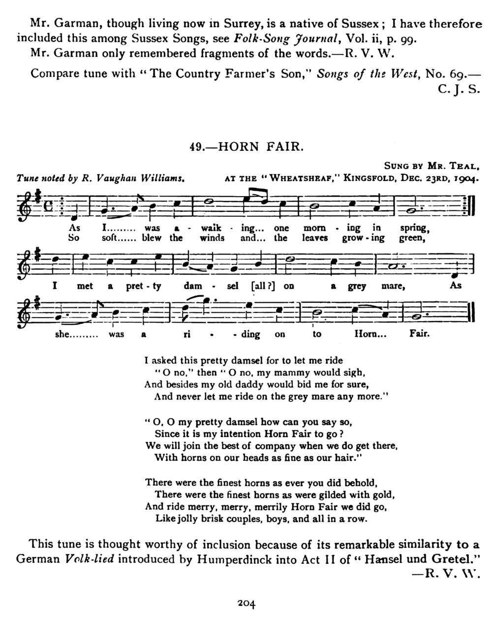 Fig. 3.   Journal of the Folk-Song Society , vol. 2, no. 8 (1906).