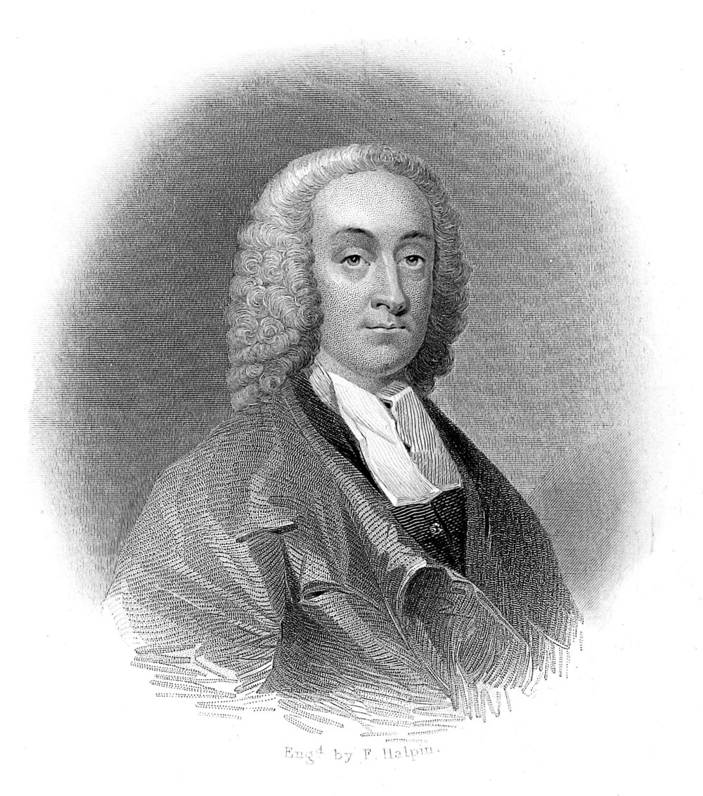 Philip Doddridge , engraved by T. Halpin, based on the painting by Andrea Soldi (18th century), in Edwin Long,  Illustrated History of Hymns and Their Authors  (1875).