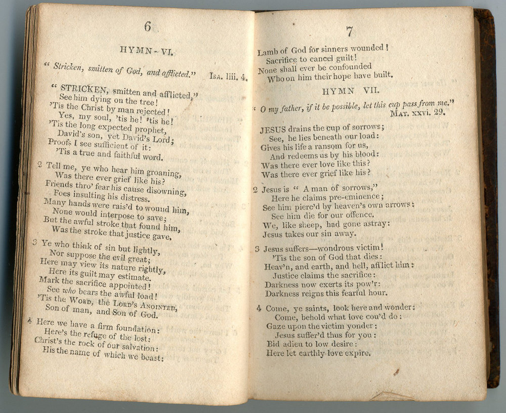 Fig. 3.   Hymns on Various Passages of Scripture,  3rd ed. (Dublin, 1809).