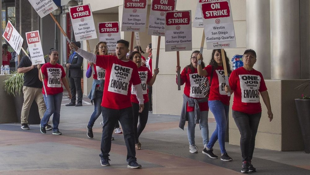 Marriott Strike yields 40% pay hike for housekeepers - ONE JOB SHOULD BE ENOUGH